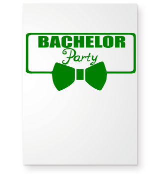 GIFT- BACHELOR PARTY TIE GREEN