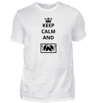 geschenk keep calm and TECHNO DJ ELECTRO