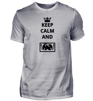 geschenk keep calm and TECHNO DJ ELECTRO
