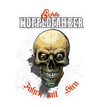 Moppedfahrer Colored Skull Sticker