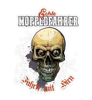 Moppedfahrer Colored Skull Sticker