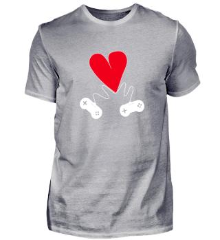 Tolles Gaming Shirt zum Valentinstag