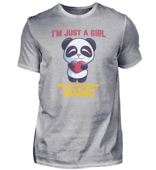 Girls Love Panda animal gift