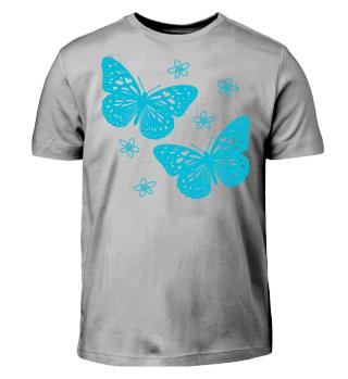 Schmetterlinge zum Ausmalen II - türkis