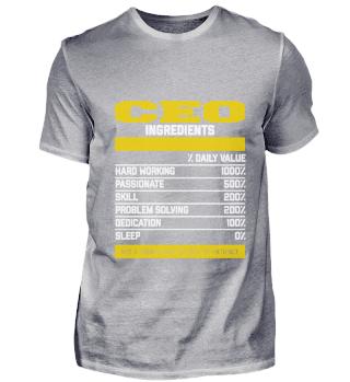 Amazing Ceo Ingredients Shirt