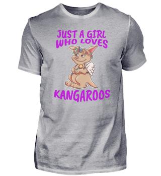 Mädchen liebt Känguru