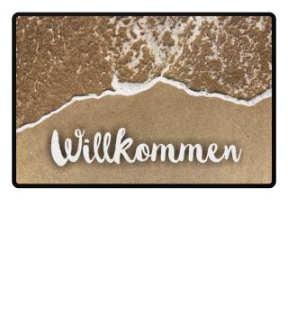 Strand I Fußabtreter - Willkommen