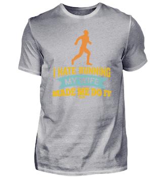 Ich hasse joggen Ehefrau Vater Ehemann