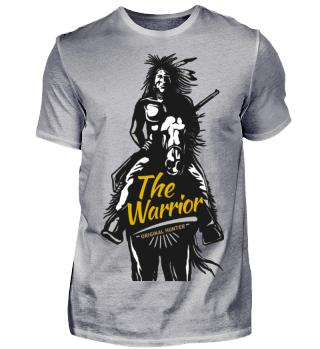 Indianer Warrior T-Shirt Geschenkidee