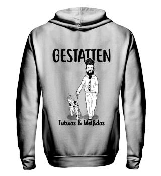 Gestatten; Tutwas-Herren Hoodie&Zip, b/w