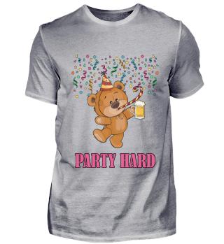 Bär Party Hard Lustig Süß Feiern Bier