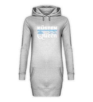 Nord Küsten Queen Hoodie Kleid
