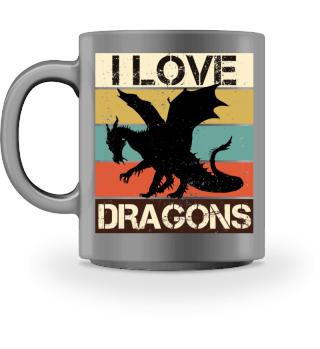 Streifen & Drachen - I LOVE DRAGONS I