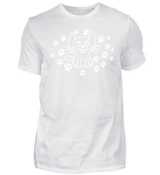 Cute Cat and Paw Shirt Gift