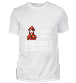 D001-0553A Female Firefighter Feuerwehr
