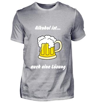 Bierkrug - Alkohol ist auch eine Lösung