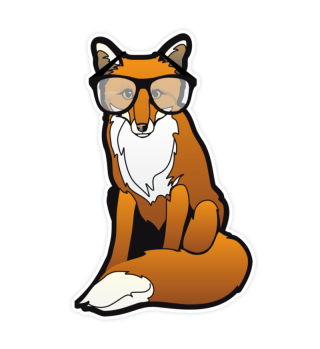 Nerd fox Framed Glasses Geek Egghead
