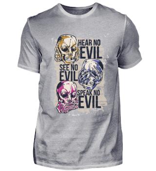 EVIL TEUFEL SKULLS T-Shirt Geschenk