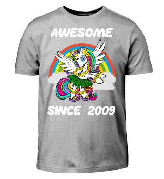 Einhorn Geschenk Shirt 9. Geburtstag