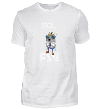 Stay fly - Hipster comic dressed up tie