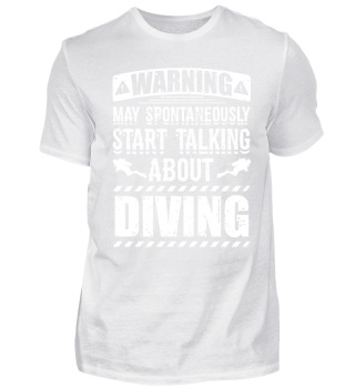 Diving Diver Shirt Warning