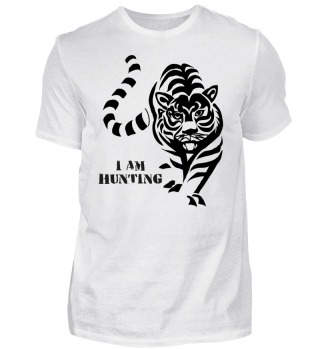 HUNTING TIGER T- SHIRT Gift Cat Shirt