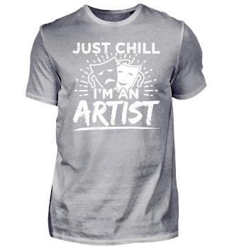 Funny Artist Shirt Just Chill