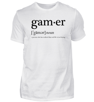 Who is the Gamer Shirt latein
