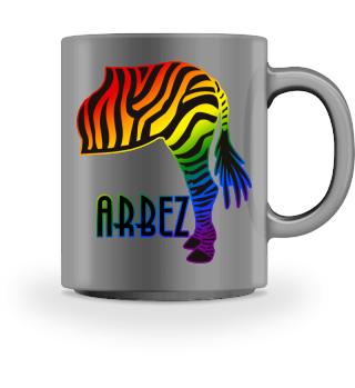 ARBEZ Zebra von Hinten - black red 1