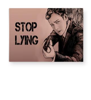 'STOP LYING' by Art deSign Alinka Anna
