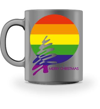 Merry Christmas - Rainbow Flag