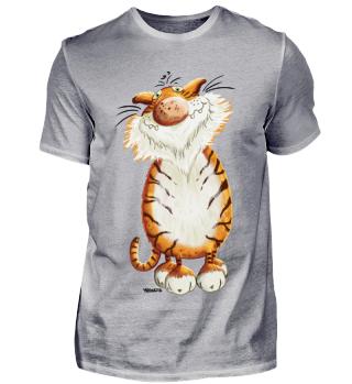Schmunzelnder Tiger - Katze - Wildkatze
