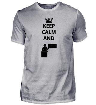 geschenk keep calm and lehrer