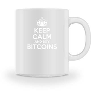 Keep Calm and buy BTC Bitcoin Shirt Fun-Shirt Bitcoin Investor Crypto Fan T-Shirt