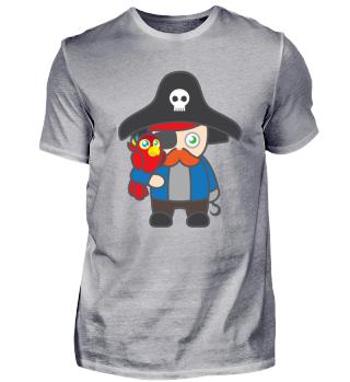 Kindermotiv: Pirat mit Papagei