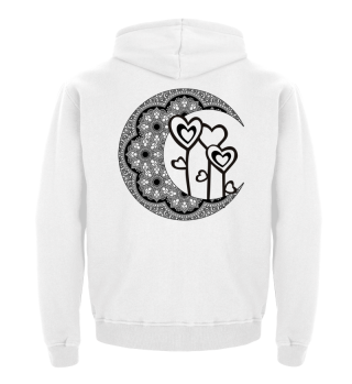 ★ Half Moon Mandala - Love Hearts 1