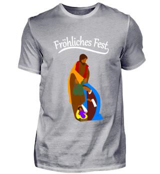 Feiertage Weihnachtskrippe - Religions Shirt