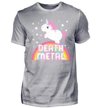 Death Metal Einhorn Regenbogen Ironie