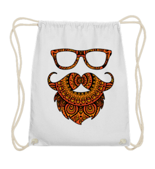 ♥ Folklore Mandala Hipster Glasses Beard
