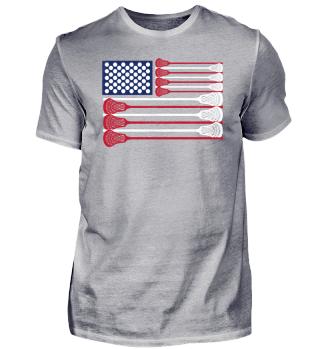 Lacrosse Laxing Vintage USA Flagge