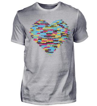 Limitiert Herz mit Liebe 100 Sprachen