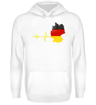 Heartbeat Germany silhouette gift