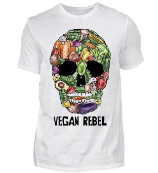Vegetable Skull ➢Vegan Rebel ➢Go Vegan