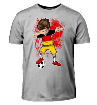 Deutschland Fußball Junge Dab