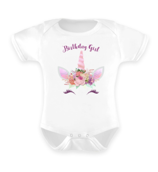 ♥ Cute Unicorn Flowers Birthday Girl 3