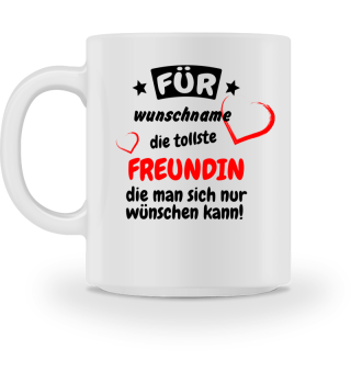 Personalisierbare Kaffeetasse - Freundin