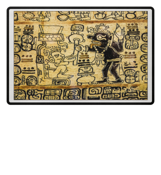 Azteken Hieroglyphen Muster