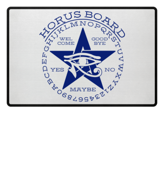 Mystical Pentagram Horus Board - blue