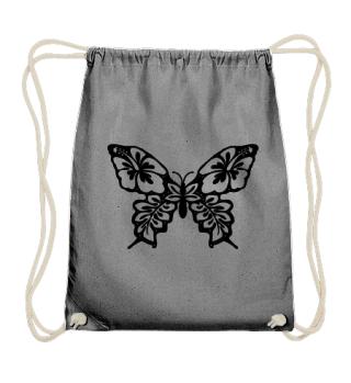 Hibiscus Butterfly zum Ausmalen - black