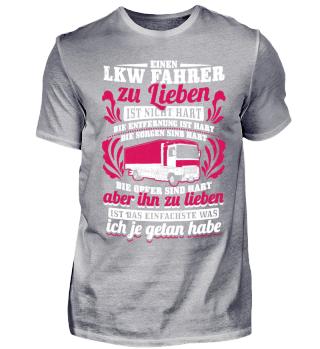LKW Fahrer Trucker Shirt Zu Lieben Ist